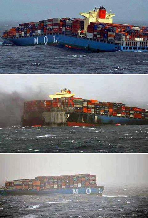 Container Ship Carrying Weapons for Syrian Rebels Splits in Half/Sinks | Philosophers stone