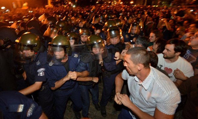 BBC News - Bulgaria protesters block parliament in Sofia unrest