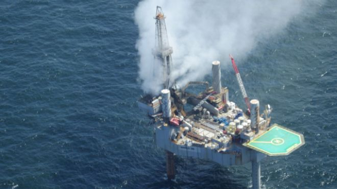 Fire breaks out on evacuated Gulf gas well after blowout | Fox News