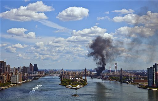 Manhattan: Queensboro Bridge Fire and Truck Explosion Reported