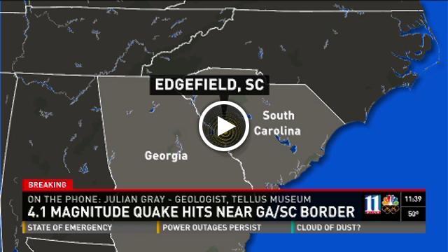 Yahoo Map Of Georgia.Small Quake Shakes South Carolina Georgia In U S Yahoo News