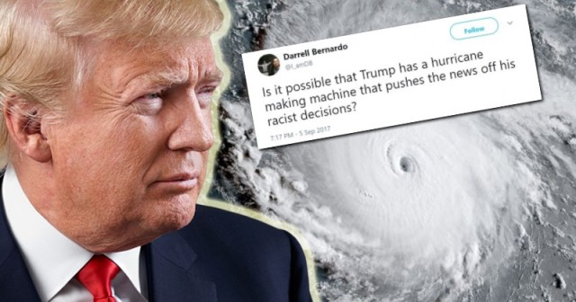 "Deranged Leftists Think Trump is Creating ""Racist"" Hurricanes"