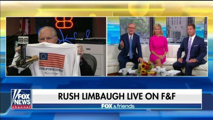 Image result for rush limbaugh betsy ross
